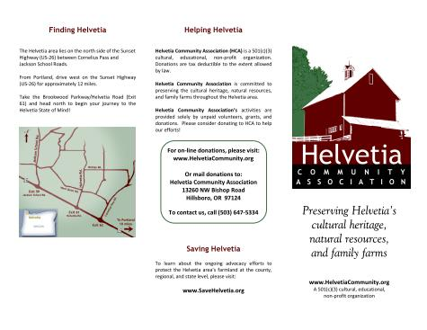 HCA brochure - outside