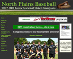 archive of North Plains Junior Baseball Association